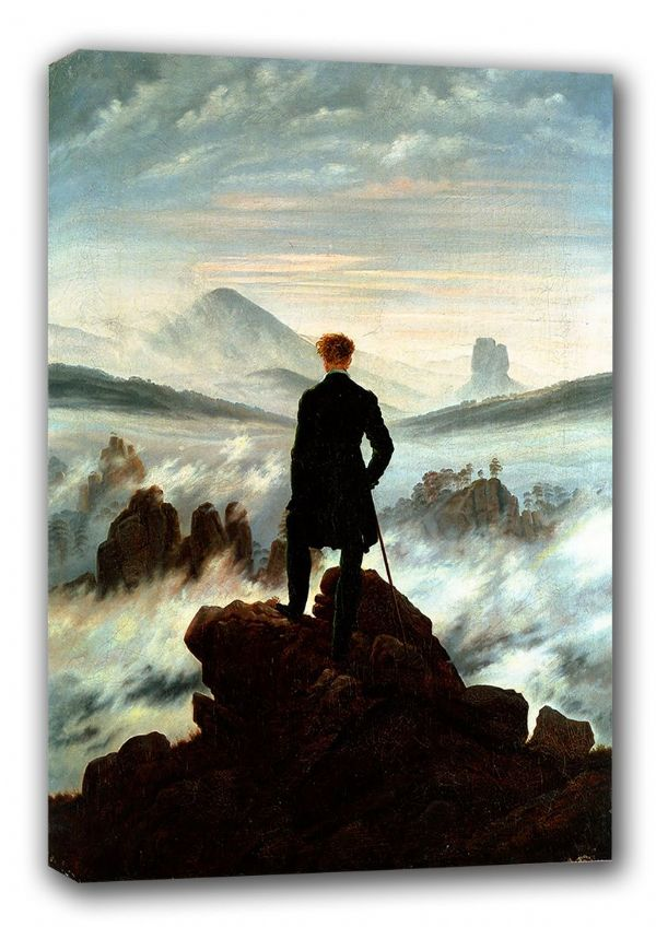 Friedrich, Casper David: The Wanderer Above the Sea of Fog. Fine Art Canvas. Sizes: A3/A2/A1. (00261)